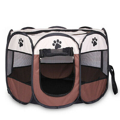 Portable Folding Pet tent Dog House Cage Dog Cat Tent Playpen Puppy Kennel  E3H1