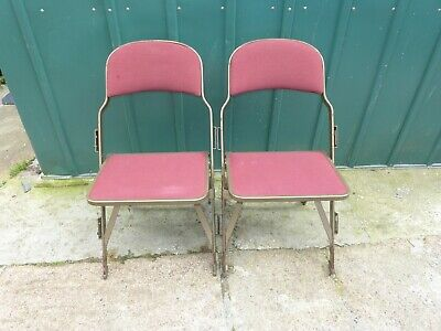 2x Vintage gold & red cinema seat chair patent 3127218