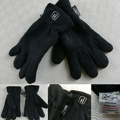 Hi Gear kids Black Gloves Thinsulate Thermal Insulation Fleece Warm Wear 4 5 yrs