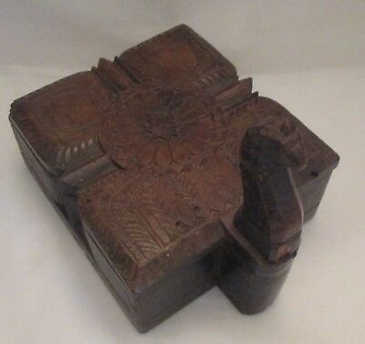 An Unusual Vintage North African Spice Box - Carved Wood