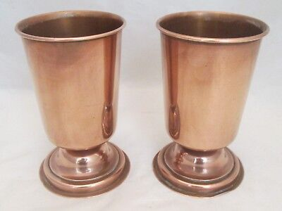 A Good Pair of 19th century Copper Beakers / Cups - Arts & Crafts