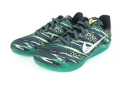 9db7c79c1762 Nike Kobe XI GS Size 7Y Basketball Green Mamba Grey Metallic Silver  822945-003