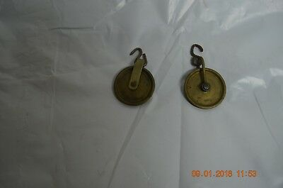 Antique Grandfather Clock Pulleys set of 2 for project or parts