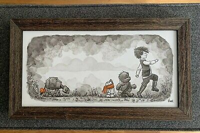"""James Hance Original Wookiee The Chew """"A Most Bold Adventure"""""""