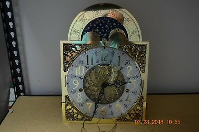 HOWARD MILLER GRANDFATHER CLOCK movement ONLY serviced and working model 611-015