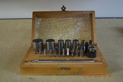 Bergeon Bushing Accessories Tool for Machine set ONLY with wooden box
