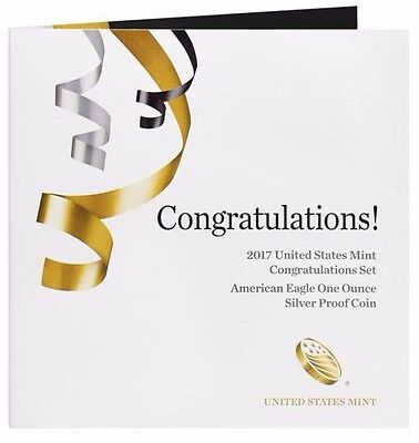 2017 S Proof Silver Eagle Congratulations Set With Ogp