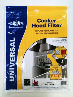 Universal Cooker Hood Filter Extractor Fan Grease Paper Cut To  Fit Size CH1