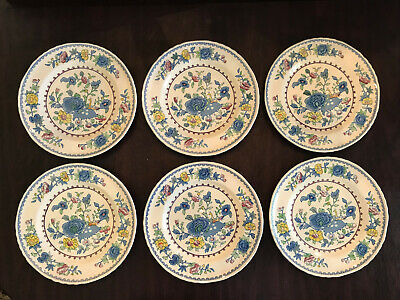 """Set Of 6 Mason's Regency Ironstone Made In England 10 1/2"""" Dinner Plates Excelle"""