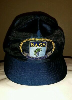 Vintage BASS ANGLERS SPORTSMAN SOCIETY 25TH ANNIVERSARY Embroidered Ball Cap Hat