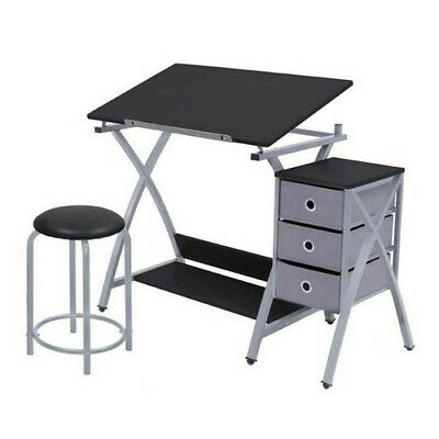 Superb Studio Designs Comet Center With Stool Laminate Craft Table Bralicious Painted Fabric Chair Ideas Braliciousco