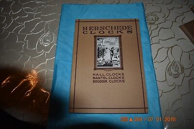 Herschede clock book Reprint of selections from four catalogs circa 1904-1927