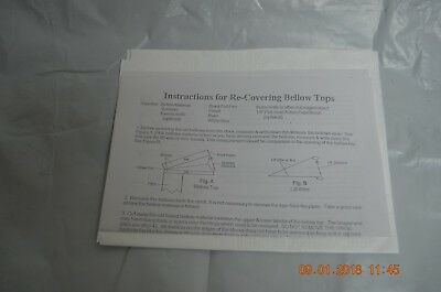 """Cuckoo Clock Bellows Sheet/Material with instructions size 27"""" x 9"""" for project"""