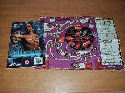 Shadow Man - Nintendo 64 N64 Instruction/Manual Booklet with Map: 9/10 Condition