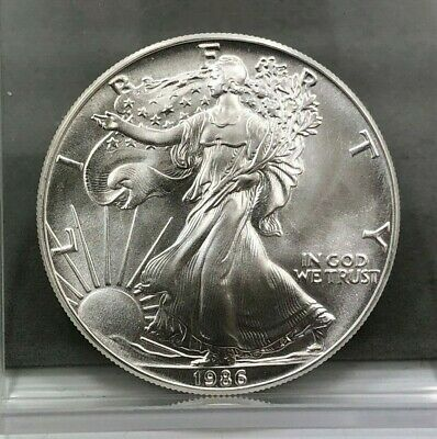 1986 1 oz American Silver Eagle BU Coin **FIRST YEAR**