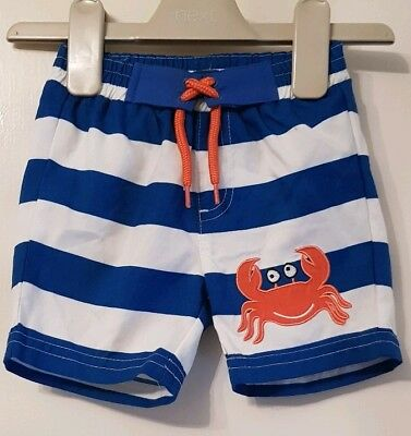 Boys Age 3-6 Months - Swimming Shorts From Mothercare