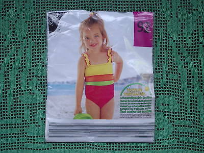 BRAND NEW BONO GIRLS SWIMMING COSTUME BLUE OR TURQUOISE SIZES 4-5 6-7 YRS