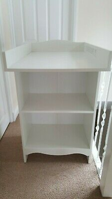 Ikea SOLGUL Changing Table (White) with Storage in excellent condition