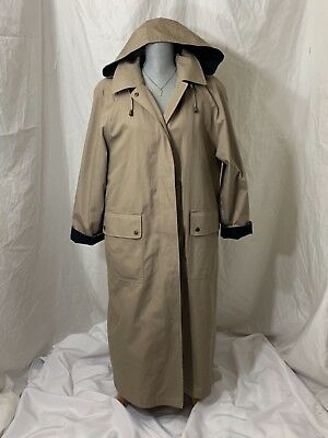 e0513a7f8a46a AMANDA SMITH Women's 12 petite Tan Trench Jacket Removable wool liner