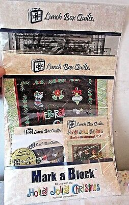 Lunch Box Quilts HOLLY JOLLY CHRISTMAS Machine Embroidery CD,Mark A Block & Emb