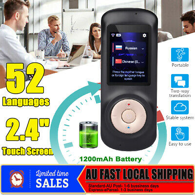 Portable 52 Languages Smart Translator WiFi Instant Voice Translation Travel HOT
