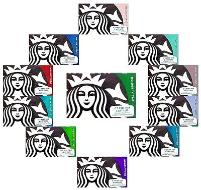 YOU CHOOSE -Starbucks Cards - 2015 - Ghost - Teacher - Fathers Day - Fall Leaves