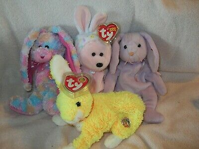 TY Beanie Babies - BONNET, BUTTERCREAM, FRITTERS, AND FLOPPITY 8.5  9 inch.