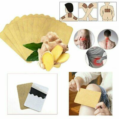 50pcs Herbal Ginger Patch Body Detox Neck Knee Pad Pain Relief Health Care ML