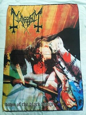 MAYHEM - Dawn of the black hearts FLAG Heavy thrash death METAL cloth poster