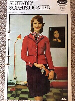 Vintage Patons Knitting Pattern Book 326 Suitably Sophisticated Six Suits