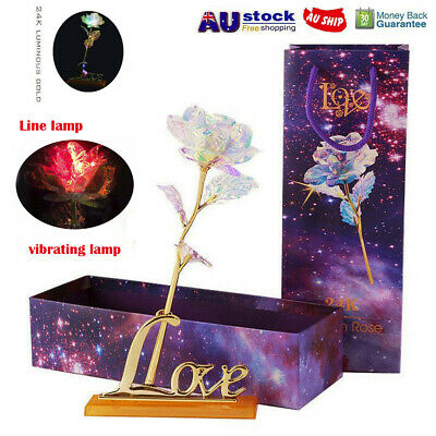 Galaxy Rose With Love Base Everlasting Crystal Mother's day Gift The Best Choice