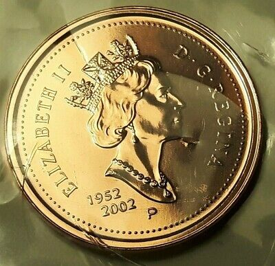 2002 Canadian Proof Penny One Cent 1 cent **Key Date** Double-Date 1952-2002