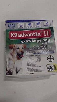 Bayer K9 Advantix II Flea, Tick and Mosquito Prevention for X-Large Dogs, Ove...