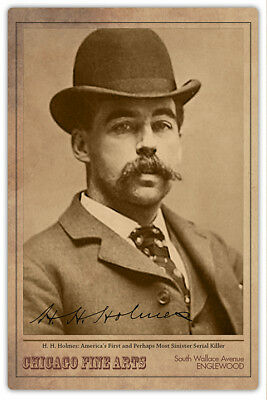 HH HOLMES Legendary Chicago Serial Murderer Con Artist Vintage Photograph RP