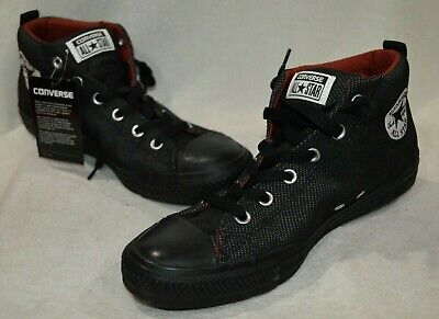 e85020b6f90d34 Converse Men s All Star CT Street Mid-Top Almost Black Sneakers-Size 8