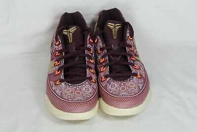 9112cd61aba NIKE KOBE 9 IX Silk Road Merlot Gold basketball sneakers 646701-676 ...