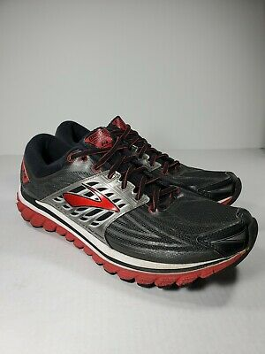 b917689a3d1 BROOKS GLYCERIN 14 RUNNING SHOES Black Red Anthracite Men s Size US ...