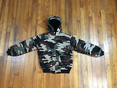 08a4c35a9916c WALLS Blizzard Pruf Coat Jacket Camo Youth Boys Size Large Regular 12/14  Hunting