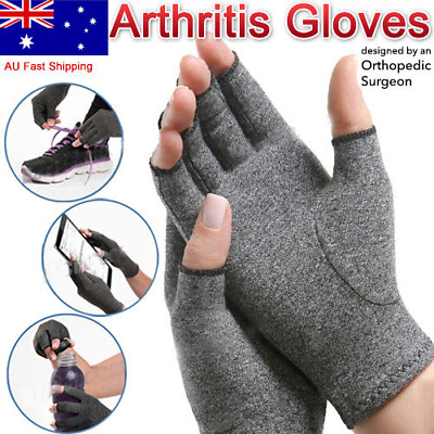 3x Arthritis Glove Compression Joint Finger Pain Relief Hand Wrist Support Brace