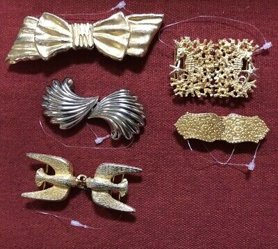 Vintage 5 Belt Buckles Mimi, Dotty Smith Others Gold Tone Siver Tone