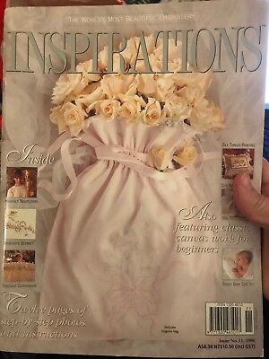INSPIRATIONS magazine #11 - 1996 - Beautiful Embroidery - with pattern sheets