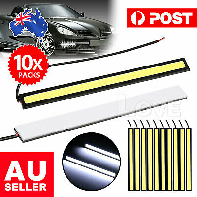 10X 12V Waterproof DRL LED Strip Lights Bars Camping Caravan Boat Car COB-White