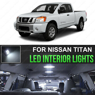 White LED Interior Lights Accessories Package Kit fits 2017-2018 Nissan Titan