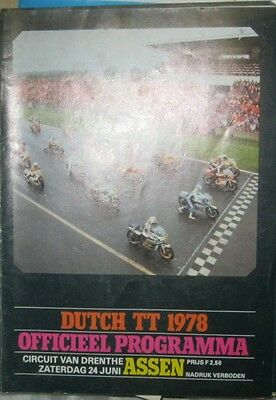 * Dutch TT Assen - Official Race - Programme  1978 *