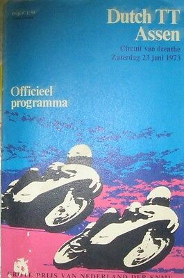* Dutch TT Assen - Official Race - Programme  1973 *