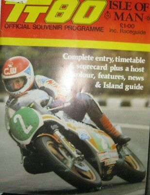 *  TT Tourist Trophy - Isle of Man  - Official Race - Programme  1980  *