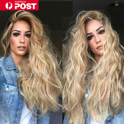 Impressive Blonde Lace Front Wig Synthetic Long Wavy Natural Wigs Hot Sale in AU