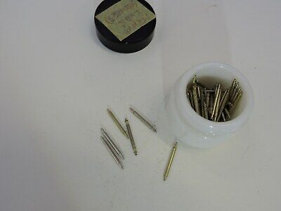 Vintage Watchmakers Lot Small Jar Various Strap Spring Bar Lugs  Steam Punk