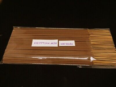Egyptian Musk Incense Stick Hand Dipped with Natural Essential Oils( 100sticks )
