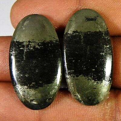 45.40Cts 100%Natural Apache Gold Oval Pair Cabochon Loose Gemstone